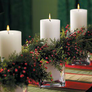 новогодние композиции со свечами в домашних условиях 3