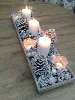 новогодние композиции со свечами в домашних условиях 2