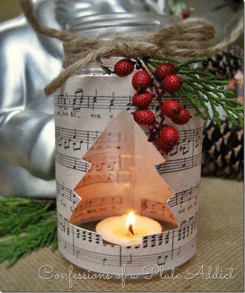 новогодние композиции со свечами 7