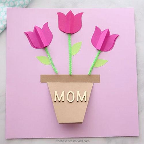 открытка ко дню матери своими руками 2 класс с шаблоном 7
