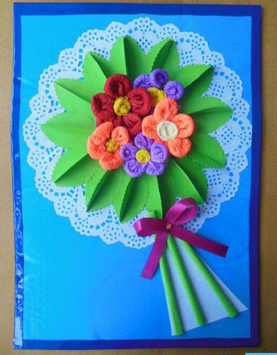 открытка ко дню матери своими руками 2 класс с шаблоном 5