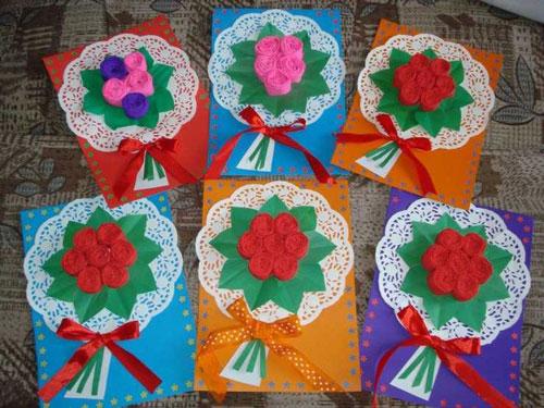день матери открытки своими руками шаблоны 4