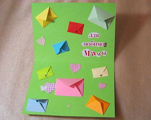 открытка маме на День матери своими руками 3