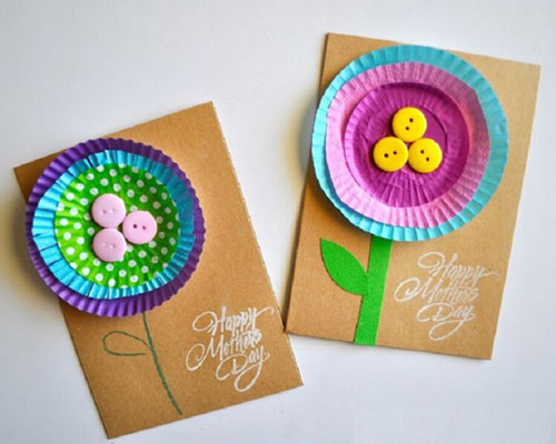 сделать открытку своими руками День матери