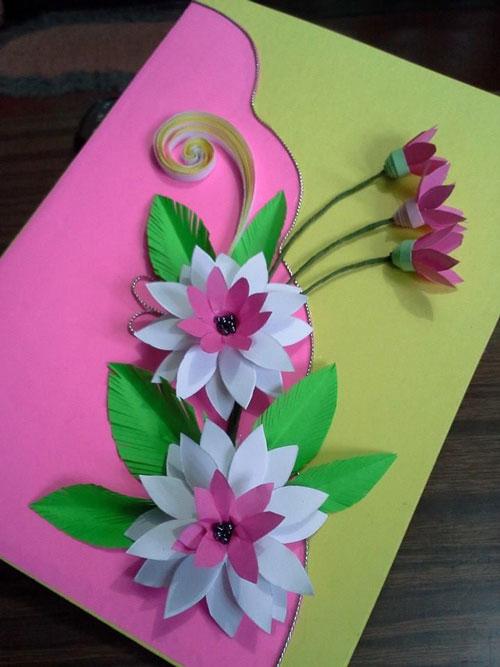 Открытка ко Дню матери своими руками в детском саду 6