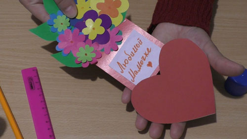 Открытка ко Дню матери своими руками в детском саду 4