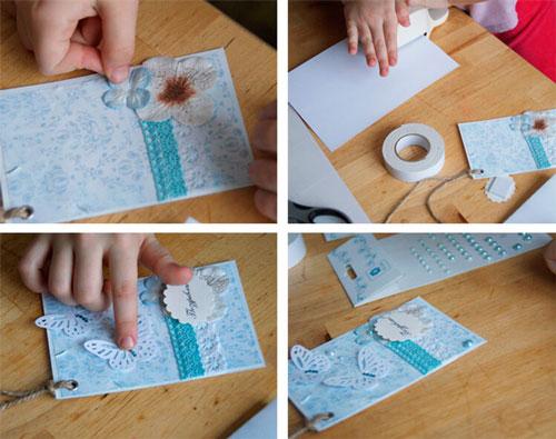открытки День матери своими руками объемный цветок 3