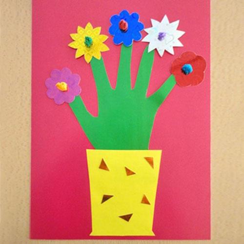 поделки из бумаги к дню матери в детском саду 10
