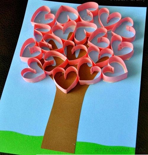 Идеи поделок из бумаги на День матери 8