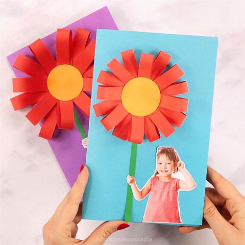 поделки из бумаги к дню матери для 1 класса 10