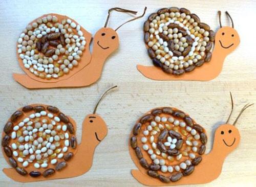 Поделки из природного материала для детей на тему Золотая осень 7