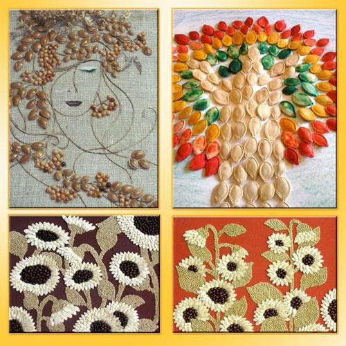 Поделки из природного материала для детей 3 лет на тему Золотая осень