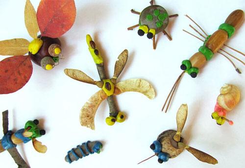 Поделки для детей 6 лет из природного материала на тему Золотая осень