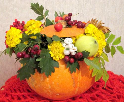 Поделки из природного материала на тему «Золотая осень»