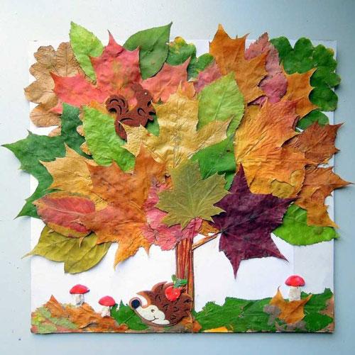 поделки из природного материала на тему золотая осень для детского сада 2