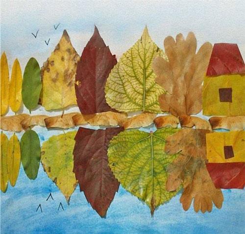 поделки из природного материала на тему золотая осень для детского сада