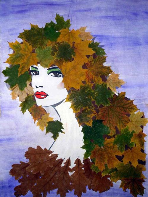 поделки из природного материала на тему золотая осень для детского сада 6