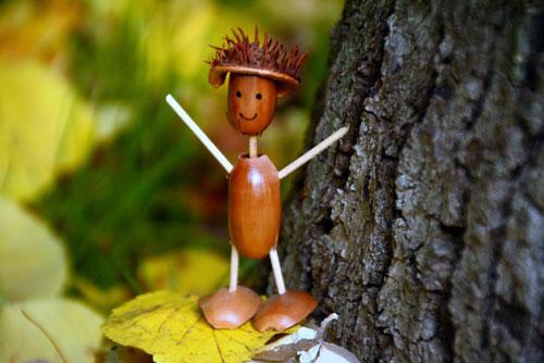 поделки из природного материала на тему золотая осень для начальной школы