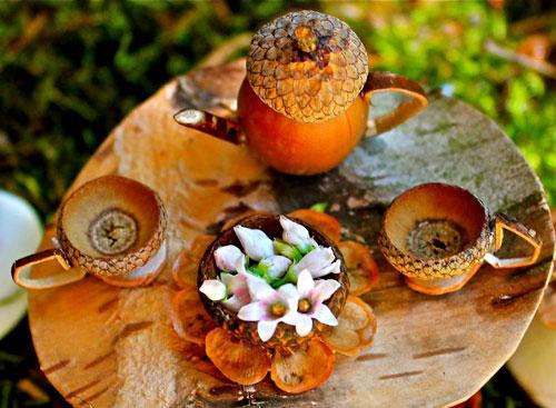 поделки из природного материала на тему золотая осень в поселке