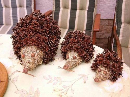 поделки из природного материала на тему золотая осень в детском саду подготовительная группа
