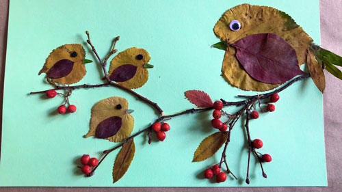 Поделки из природного материала на тему Золотая осень в школу 3