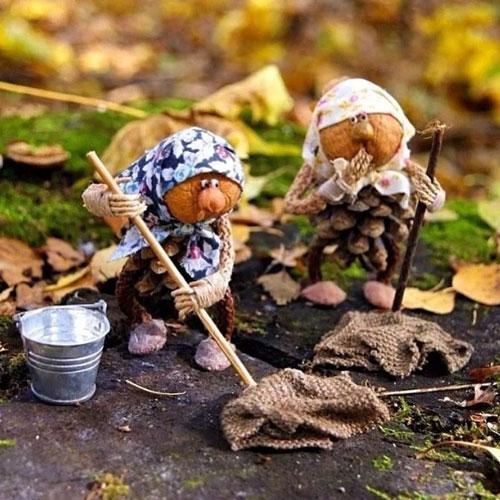 поделки из природного материала на тему золотая осень своими руками