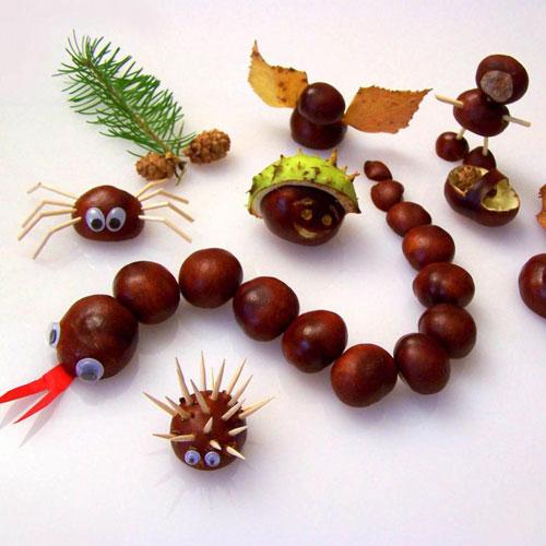 поделки из природного материала на тему золотая осень своими руками фото 9