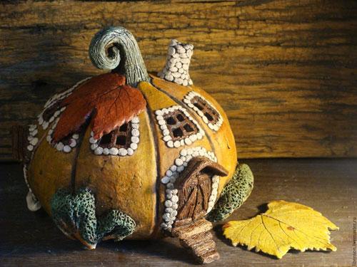 Поделки из природного материала для детей на тему Золотая осень 3