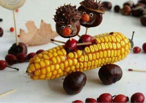 Поделки из природного материала для детей на тему Золотая осень 5