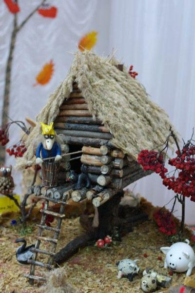 Поделки из природного материала Золотая осень для детей в школу