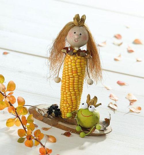 Поделки из природного материала Золотая осень для детей в школу 2