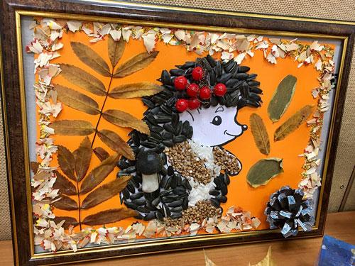 Поделки из природного материала Золотая осень для детей в школу 5