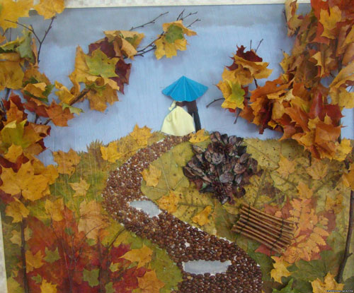 Поделки из природного материала Золотая осень для детей в школу 6