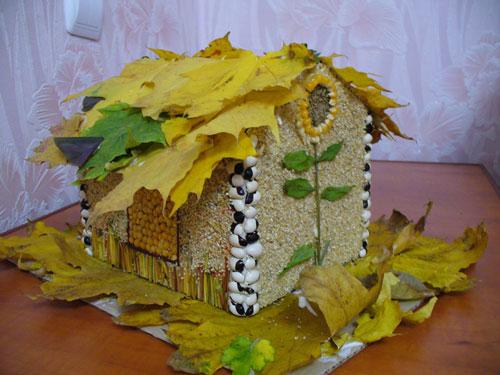 Поделки на тему Золотая осень из природного материала для детей 3
