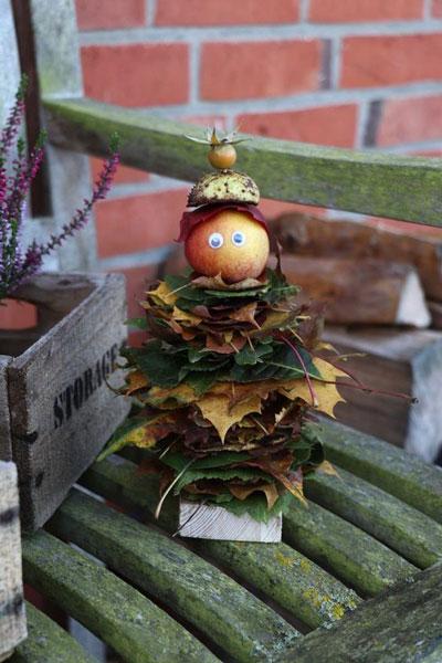 Поделки на тему Золотая осень из природного материала для детей 10
