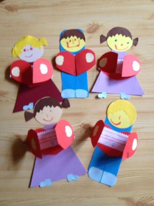 поделки ко дню матери в детском саду младшая группа своими руками 10
