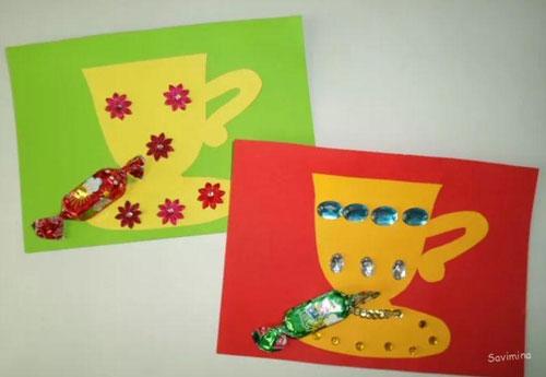поделки ко дню матери в детском саду младшая группа своими руками неоригинальные 2