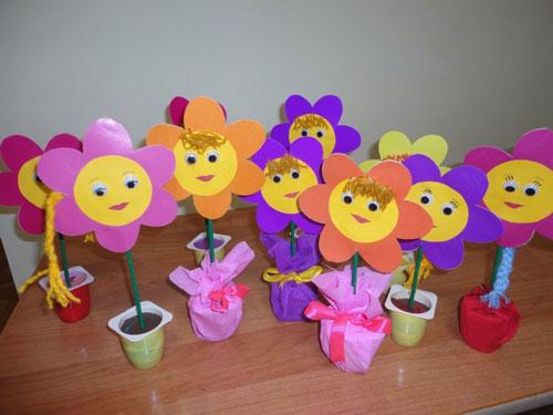поделки ко дню матери в детском саду младшая группа своими руками неоригинальные 5