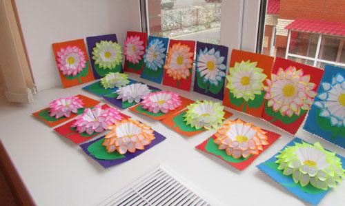 поделки ко дню матери в детском саду младшая группа своими руками неоригинальные 9