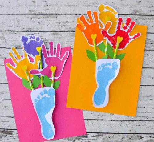 простые поделки ко дню матери в детском саду 2