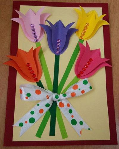 простые поделки ко дню матери в детском саду 4