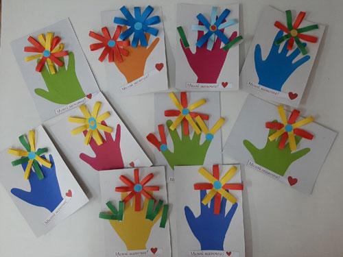 поделки ко дню матери в детском саду своими руками средняя группа 8